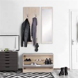 Garderobe 80 Cm Breit : wand garderobe jan mit garderobenpaneel spiegel real ~ Bigdaddyawards.com Haus und Dekorationen