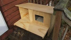 Outdoor cat house house plan 2017 for Trixie dog house insulation