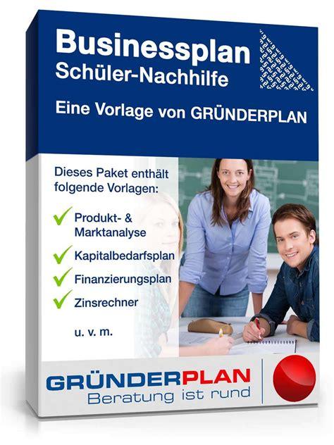 businessplan schueler nachhilfe von gruenderplan muster