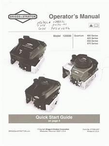 Briggs  U0026 Stratton Engine Manual