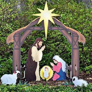 Teak Isle » Outdoor Nativity Sets - American Made