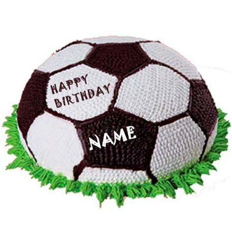 write  football happy birthday cake