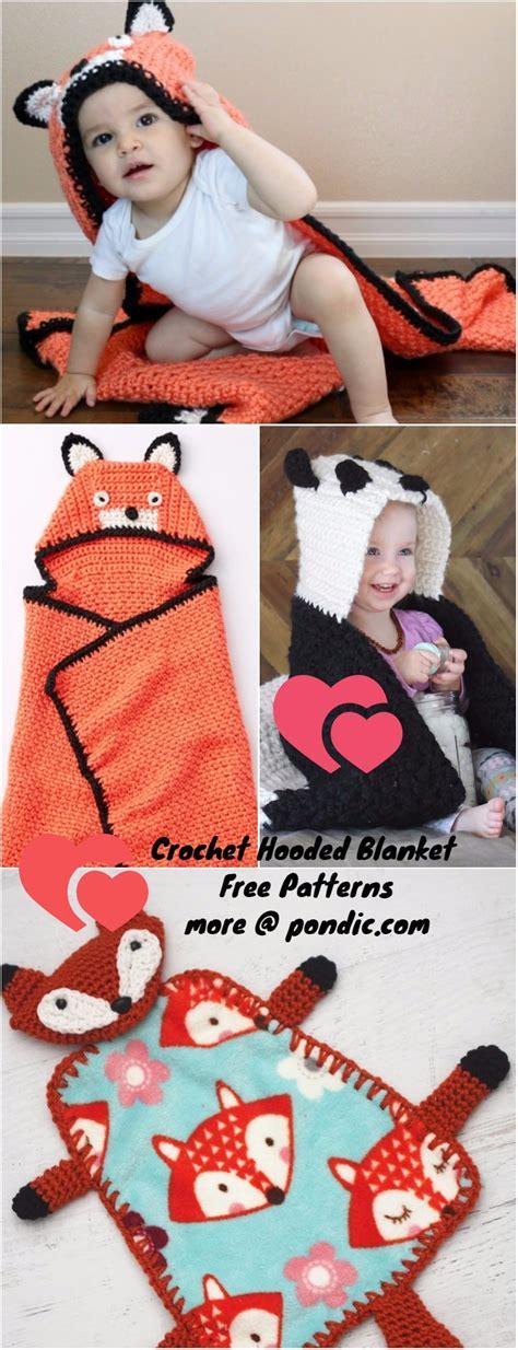 Free Crochet Hooded Baby Blanket