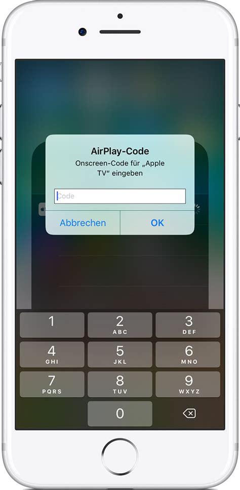 airplay oder bildschirmsynchronisation auf dem iphone