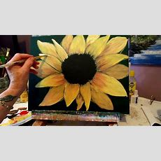 How To Paint A Sunflower With Acrylic Paint Lesson 3, Step
