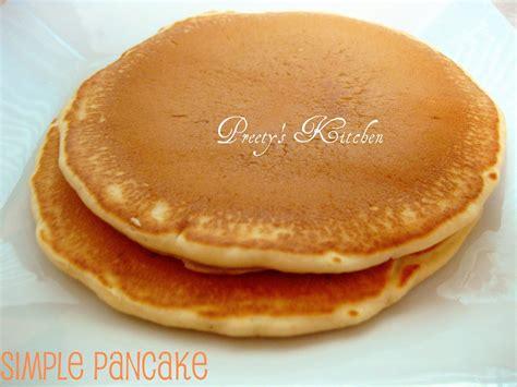 easy pancakes preety s kitchen simple pancake recipe