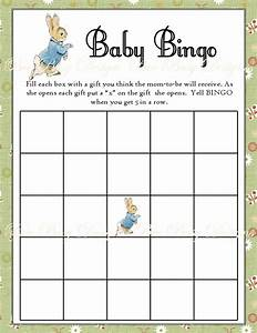 Free Printable Photo Birth Announcements Templates Printable Peter Rabbit Baby Shower Bingo Game Instant