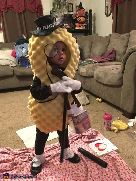 diy  peanut baby costume photo
