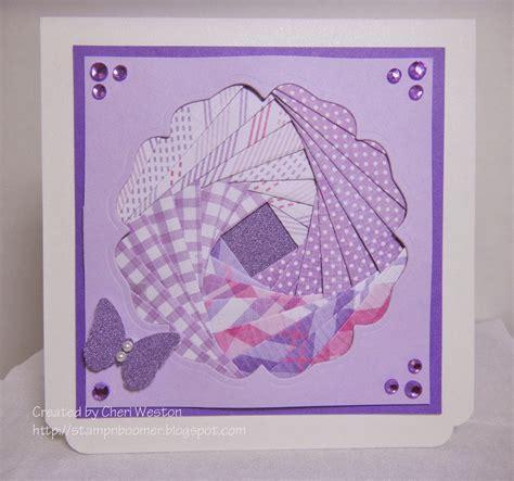 stampn boomer  iris folding