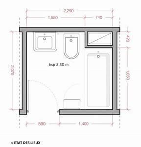 Plan Petite Salle De Bain : comment am nager une salle de bain de 5m2 coaching d co ~ Melissatoandfro.com Idées de Décoration