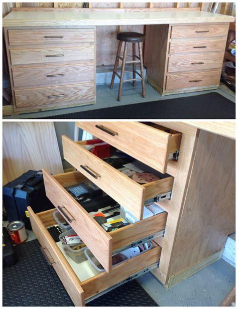 custom workbench  full extension drawers  steve