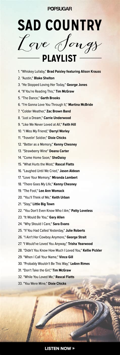 Country Love Songs   Playlists   POPSUGAR Love & ***