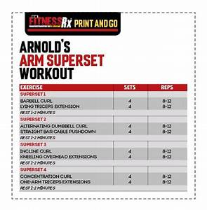 Arnold workout idealstalist arnold workout malvernweather Images