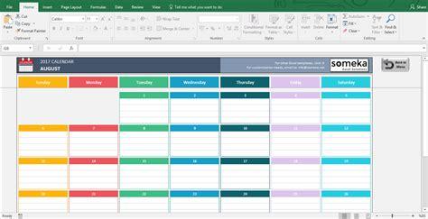 2017 Calendar Template Excel Excel Calendar Templates Free Printable Excel