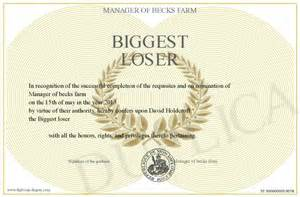 biggest loser party party invitations ideas With biggest loser certificate template