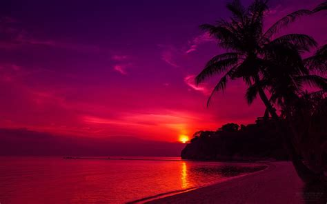 thailand beach sunset wallpapers hd wallpapers id