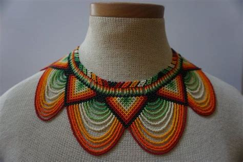 tribe embera chami this beautiful beaded necklace okama was made by a family from the embera
