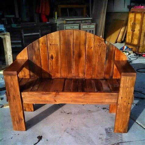 outdoor pallet bench designs