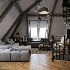 loft contemporain 55 exemples inspirants With tapis jaune avec canape destockage usine lyon