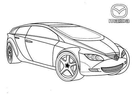 Kleurplaat Lamborghini Sesto Elemento by Coloring Page Mazda Japan
