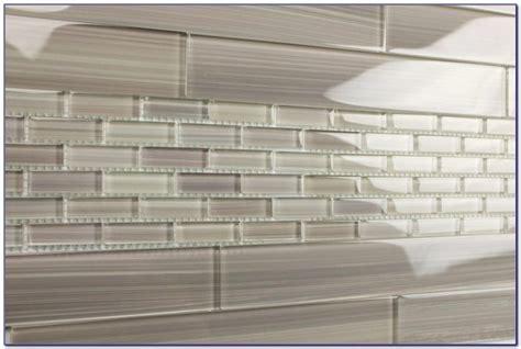 light grey glass subway tile backsplash tiles home