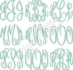 Circle Monogram Embroidery Font