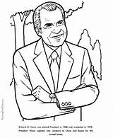 Coloring Nixon Richard Pages Facts President Printable Presidents Henry John Printables Reconciliation Patriotic Usa Activities Presidential Printing Help States United sketch template