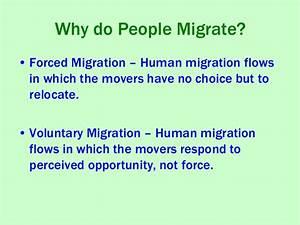 World Geography - Unit 4 migration