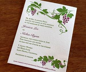 New wedding invitation design st helena letterpress wine for Modern winery wedding invitations