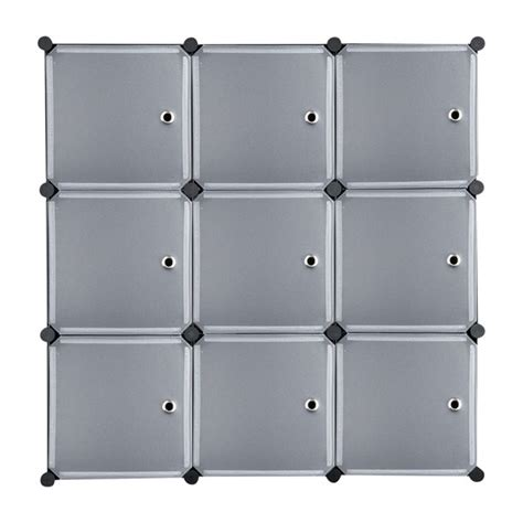 9 Cube Diy Plastic Closet Cabinet Modular Book Shelf