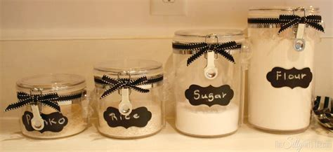 what to put in kitchen canisters diy canister re style this silly girl s kitchen
