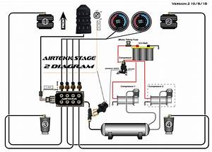 airtekk stage 2 management only With viair 444c wiring