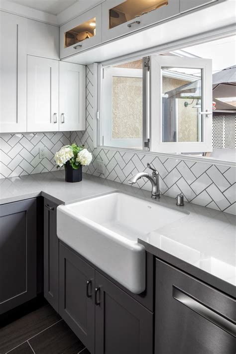 remodeled kitchen complete  white subway tile