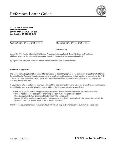 recommendation letter for graduate school social work