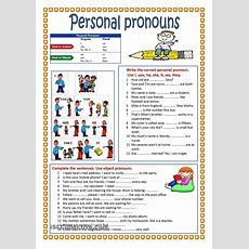 Personal Pronouns  Pronouns Gor  Pinterest  English, Worksheets And English Grammar