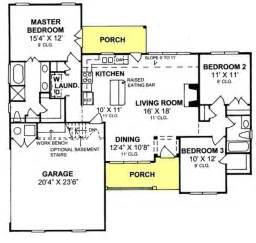 3 bedroom country house plans 655834 3 bedroom 2 bath country cottage with open floor
