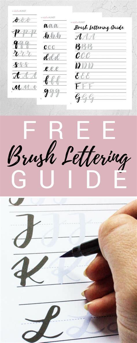 Was ist handlettering und wie fange ich damit an? Kostenloser Brush Lettering Guide (mit Bildern) | Schriftführer, Handschrift kurs, Pinselschrift