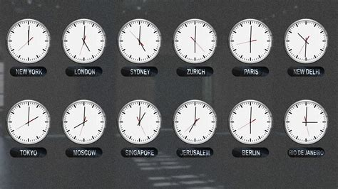 world clocks time zones time lapse motion background