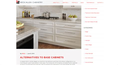 Beck/Allen Cabinetry Website Redesign - Interior Design