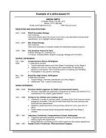 it skills based resume cv skills based