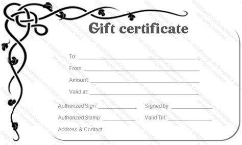 gift certificate template pages 30 printable gift certificates certificate templates