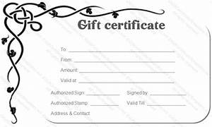 corner border gift certificate template gift certificates With full page gift certificate template