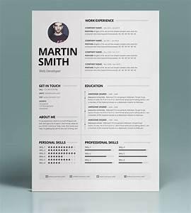 50 best minimal resume templates design graphic design With free minimalist resume template word