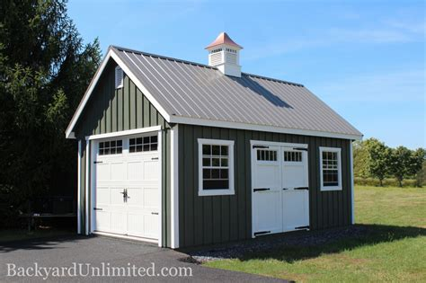 one car garage garages large storage single car garages backyard