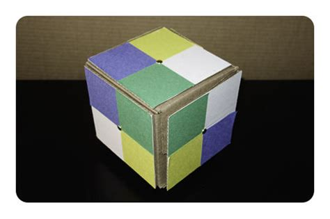cardboard rubiks cube