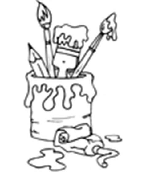 dessin pot de peinture pinceau je dessine avec les coloriages de toupty