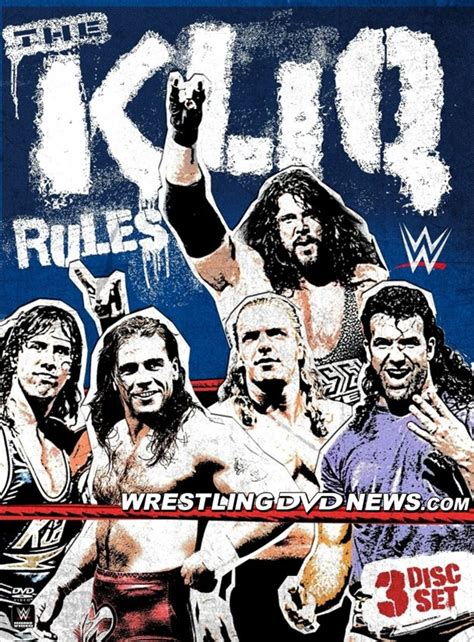 the cover art for wwe s upcoming the kliq rules dvd