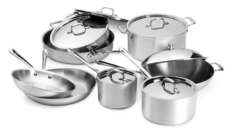 chef cookware master clad piece sets cutlery brand contains cutleryandmore