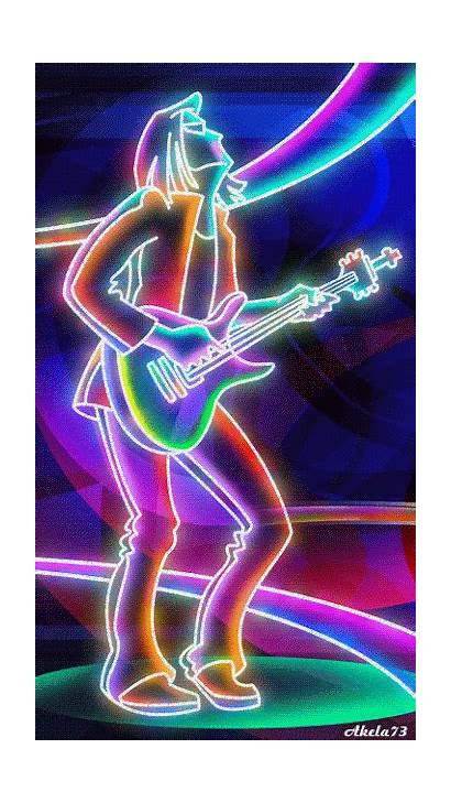 Animation Neon Animated Gifs Animations Guitar Moving