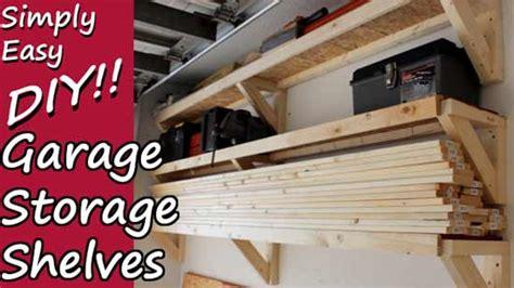 simply easy diy garage storage shelves